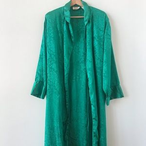 Vintage Victoria's Secret emerald green robe